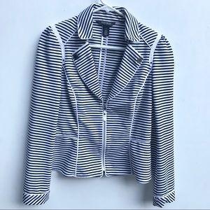 White House Black Market zip up blazer jacket - 8